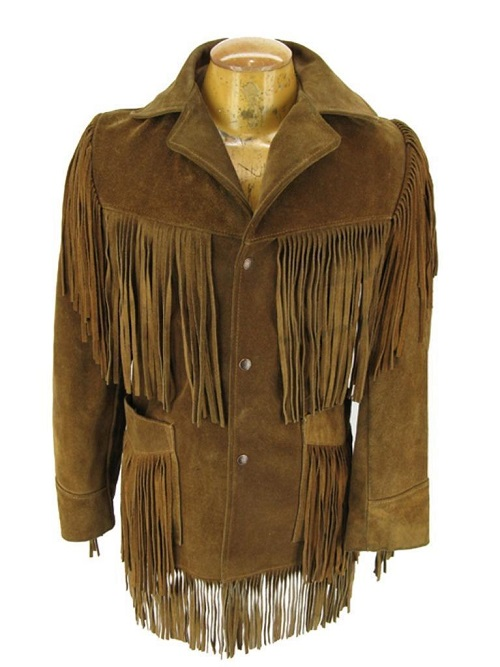 Men Western Wear American Coat Cowboy Fringes Suede Leather Jacket New