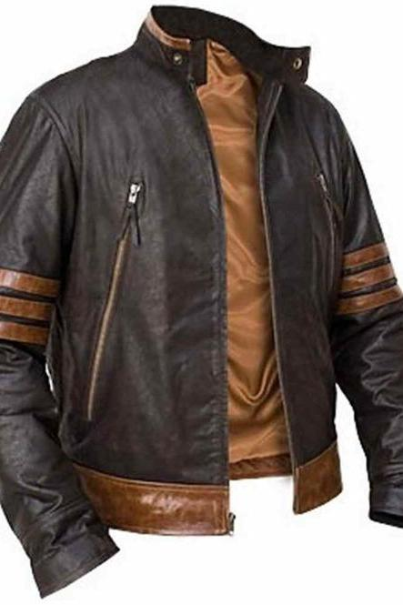 X Men Wolverine Leather Jacket, Xmen Wolverine Leather Jacket