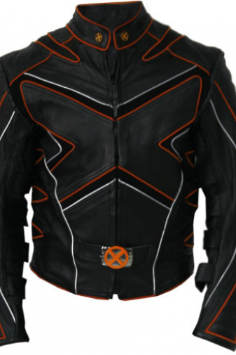 X-Men 3 The Last Stand Wolverine Motorcycle Replica Leather Jacket